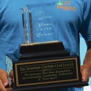The award in hand