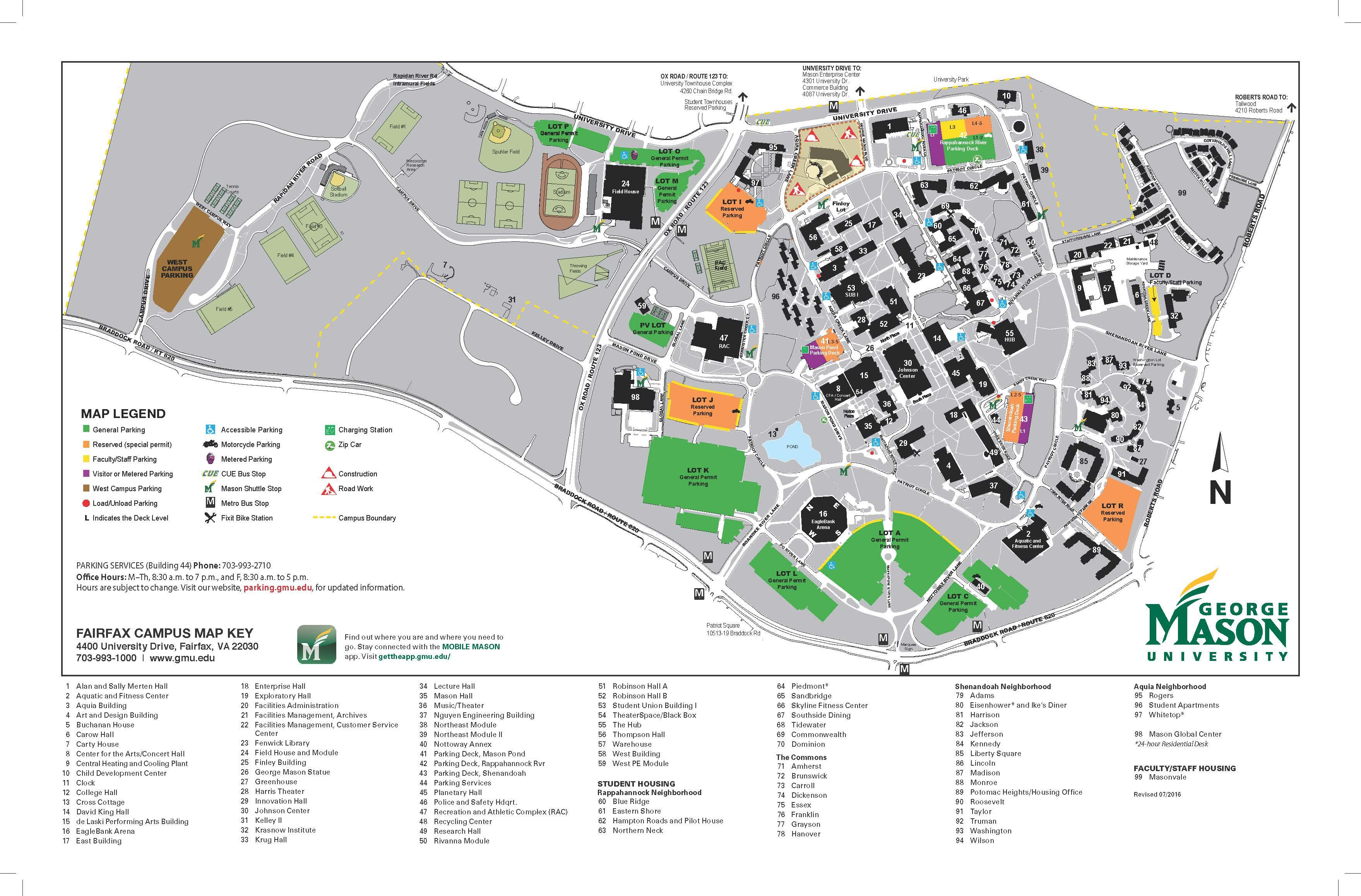 George Mason University Campus Map - induced.info